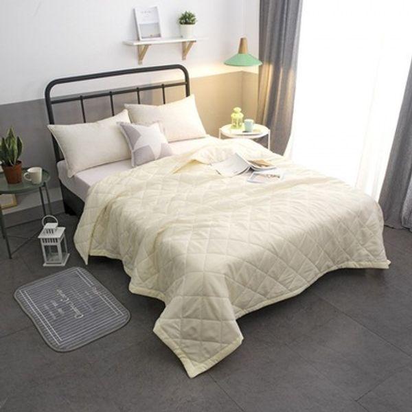 Solide rose blanc été quilt couverture à la maison couvre-lit twin / queen / king / pleine taille couvre-lit colcha de verano textiles drap de lit gratuit