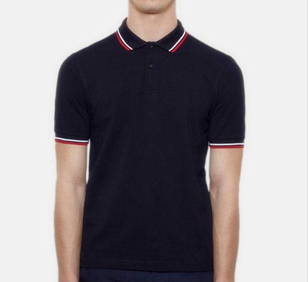 2019 Uomini Classic Fred Polo Shirt in cotone perry Inghilterra manica corta NEW Arrived Summer Tennis Cotton Polo Bianco Nero S-3XL spedizione gratuita