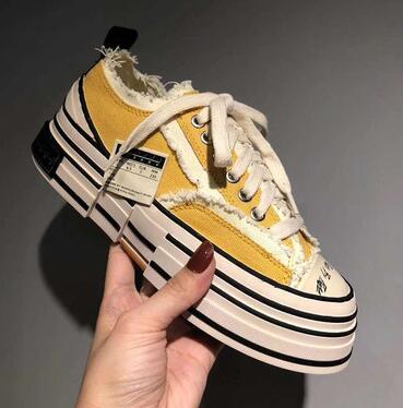 Qualidade máxima! Os últimos sapatos casuais tamanho grande 35-45 grosso único top estrelas Sapata de lona Clássico dos homens / mulheres lona sapatos SS llove105