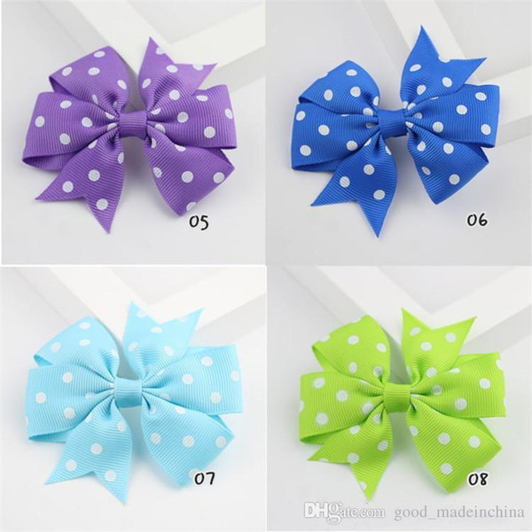 8cm Ribbon Baby Hair Wear 20 Colors Cotton Infant Hair Barrettes Bow Solid Color Newborn Kids Hair Accessories Wholesale & Dropship