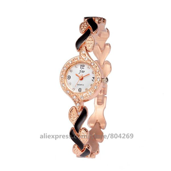 High Wholesale Women Fashion Quartz Watch Hot Sale Thin Alloy Bracelet Watch For Women Alloy Band Flowers Wrist