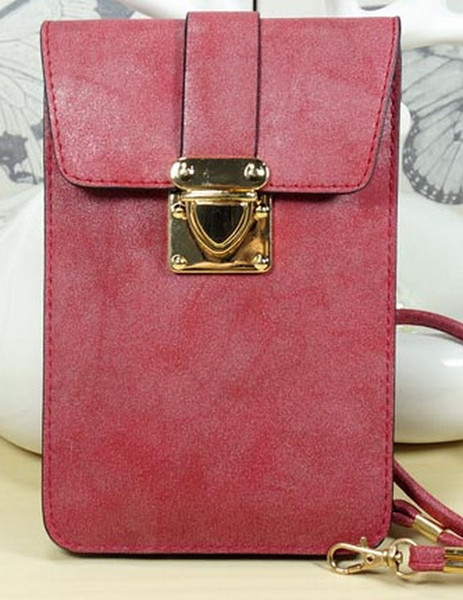 Moda versión coreana del clásico oblicuo bolso de mano mini bolso Bolsa inclinada de la moda con hebilla de cadena en color puro