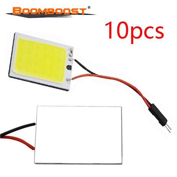 Auto Interior Lâmpada de Leitura 10 Pcs 3 W T10 24 SMD COB Painel LED Cúpula Festoon Adaptadores Interior Do Carro Lâmpada de Leitura Fonte de Luz