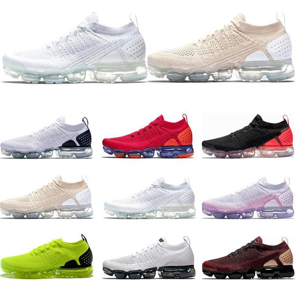 vapormaxHot Running Schuhe für Männer dreifach schwarz weiß Light Cream Gym Bule Dusty Cactus Hot Punch Metallic Gold Sport Sneaker Größe 36-45