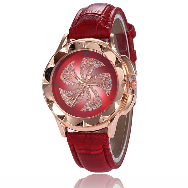 Wristwatch Hot Style Sales Rose Gold Diamond Windmill Classic ladies watch fortune is hot leisure students female Watch