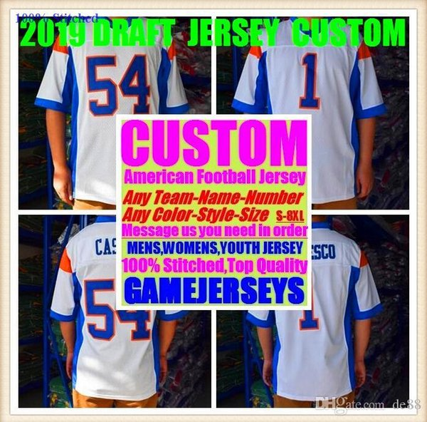 Custom american football jerseys Arizona Atlanta college authentic retro rugby soccer baseball basketball hockey jersey 4xl 5xl 8xl home