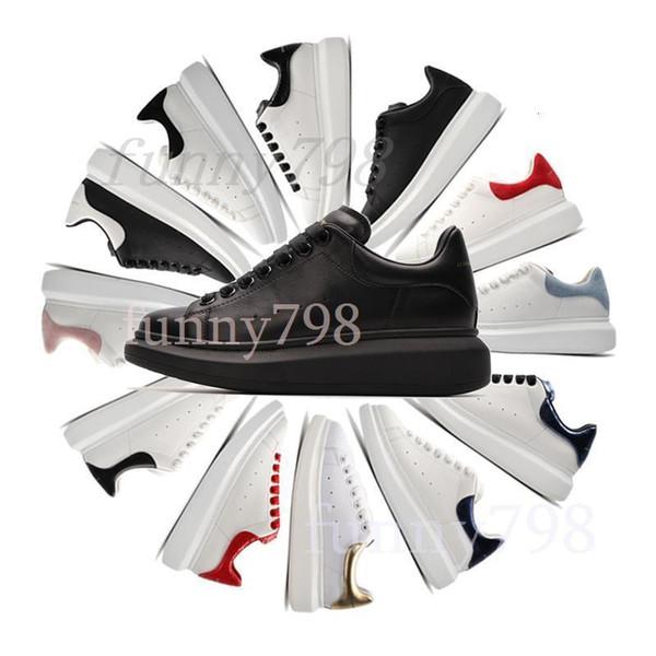 2019 marca barata Plataforma As clásico de los zapatos ocasionales Zapatos para mujer para hombre zapatillas de terciopelo Heelback soles diseñadores estrella del vestido McQueen Zapatos