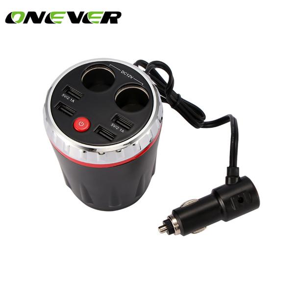 Auto presa accendisigari di ricarica per auto Cup 4 USB 5V 2.1A Intelligent Charging display LED Digital Power Cup Adattatore