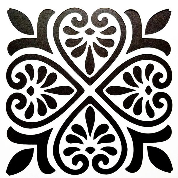 top popular 15*15cm DIY PaintingVintage Pattern Reusable Art Stencil Template For Wall Tile Furniture Wood Fabric Painting Decor 2021