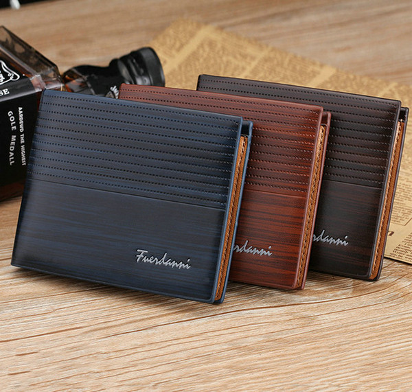 Short PU wallet Money Clip For Men billfold Purse Credit Card Holders Wallets for Male free shipping