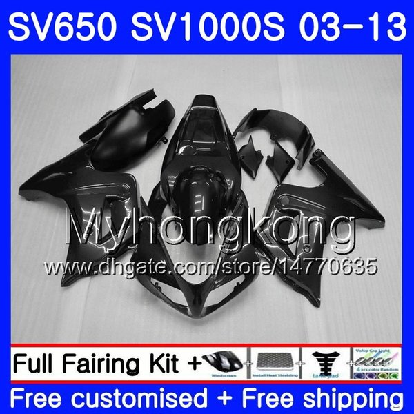 Corps pour SUZUKI SV650 SV1000S SV650S 03 04 05 06 07 08 308HM.9 SV 650S 1000 S 1000S 2003 2004 2005 2006 2007 2008 Noir gris stock