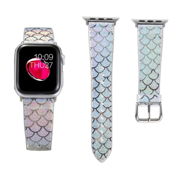 Lüks Apple İzle Bantları 38mm Yedek Renk flaş Bileklik 44mm 42mm İzle Sapanlar Tasarımcı Watchband iwatch bantları 40mm Spor Bilezik