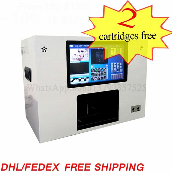 5 nails and 3 flower painting a time nail flower printer artificial nail printing machine digital nail printer with computer