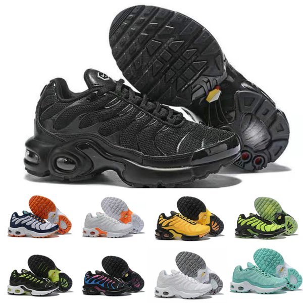 2019 Baby Kids Sneakers Running TN Shoes Children Athletic Shoes Slip-On Boys Girls Training Sport Sneakers shoe Size US 11C-3Y