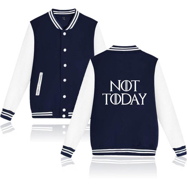 American TV show not today-arya stark Top Harajuku Baseball Jacket Sweatshirt Preppy Leisure style Jackets Coats
