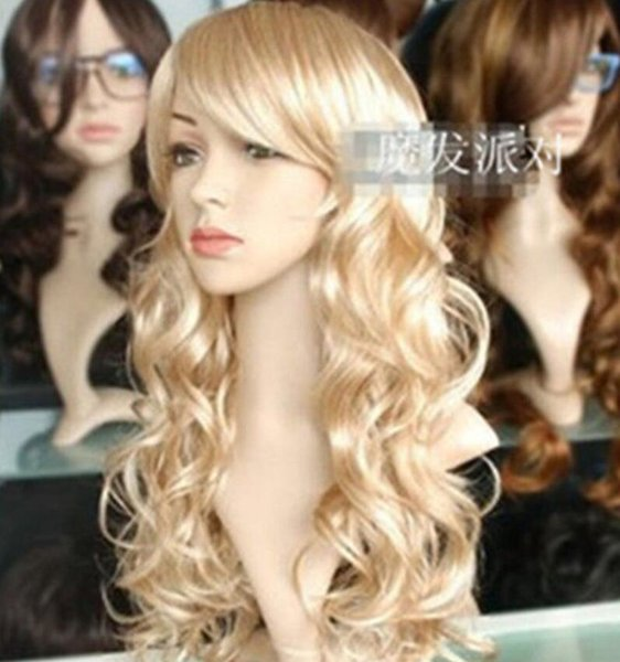 HOT Free Shipping >>>> Long curly hair ball Dress Wig holiday / Christmas / Halloween Wig mannequin wig