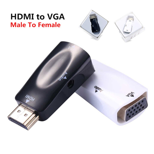 HDMI auf VGA Adapter Konverter Stecker auf Buchse Audio Kabel Konverter HD 1080P für PC Laptop TV Box Computer Display Projektor