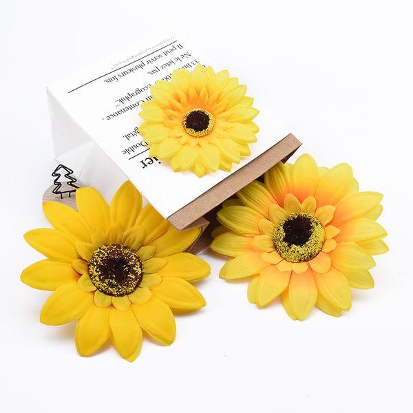 5 adet Büyük ipek krizantem scrapbooking noel süslemeleri ev düğün gelin aksesuarları için gümrükleme yapay çiçekler