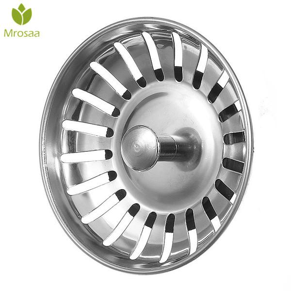 1 Pcs Mrosaa SS Kitchen Sink Strainer Stopper Waste Plug Sink Filter Deodorization Type Basin Sink Drain Bathroom Accessories