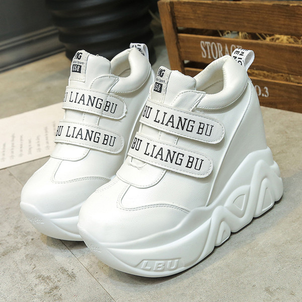 Spring Women Sneakers Black White Chunky Sneakers 2121 Platform Dad Shoes Female Wedges Shoes Zapatos Mujer Thick Sole
