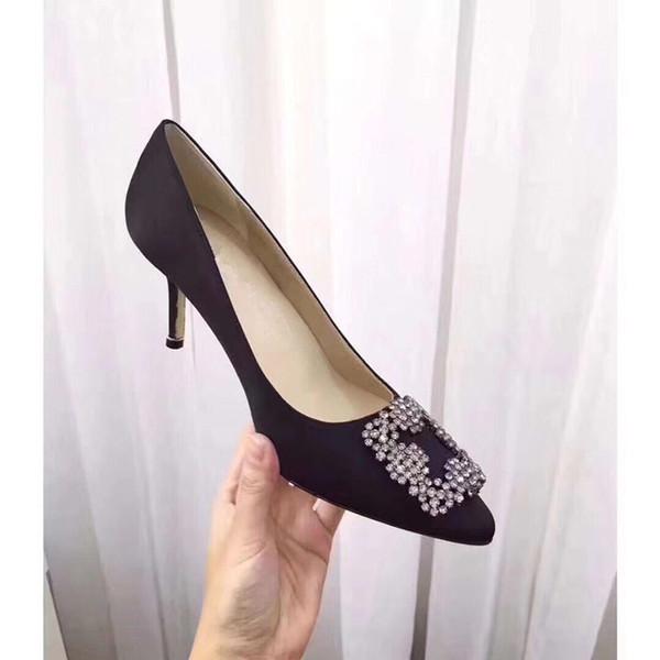 2019 Yüksek kalite kadınlar yüksek topuklu sandalet düğün ayakkabı Deri perçinler Sandalet Kadınlar Çivili Strappy Elbise Ayakkabı yüksek topuk by181209