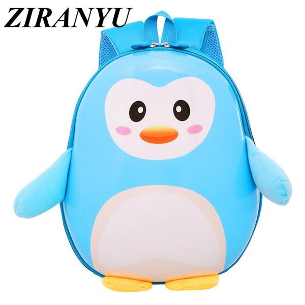 NEUE Nette Kleine Pinguin Kinder Rucksack Schöne Cartoon Tier Schultaschen Für Jungen Mädchen kindergartentasche baby Buch tasche