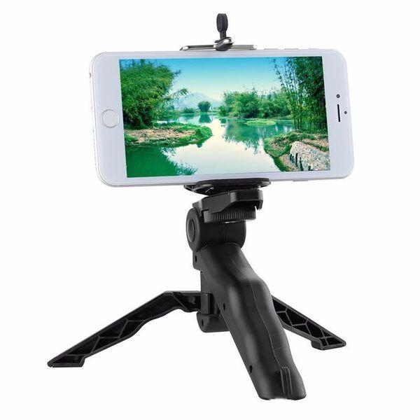 "Desktop & Handle Stabilizer Tripod Holder For Mobile Gopro Camera Universal Mini Tripod 75"" Rotation With Mobile Phone Holder"