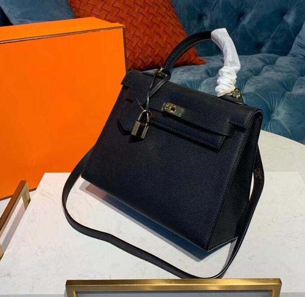 New Luxury Designer Leather Lock kelly Hand Bags Leather Women Handbags Ladies Shoulder Bags Original leather Classic Women Messenger 11
