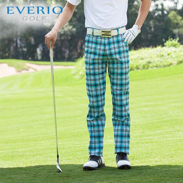 Men Golf Apparel Sweatpants Vetements De Golf Pour Hommes Brand Male British Casual Pants Outdoor Ball Pants Slim Plaid Trousers