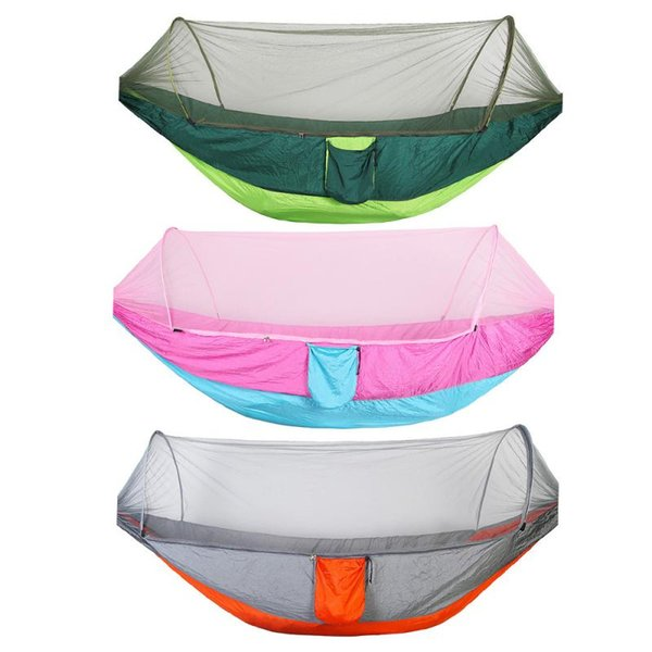 New Double Portable Camping Travel Hammock Hanging Bed with Mosquito Net Duvet Cover