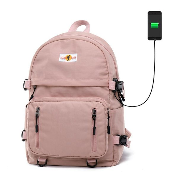 Nuovo Daypack donne zaino impermeabile solido Nylon Canvas Bag School For Ragazze adolescenti Ragazzi 15