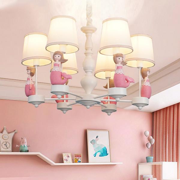 Princesa de dibujos animados casa sirena lámparas de iluminación dormitorio de la muchacha deco Kids Room luz Romántica llevó la decoración de la lámpara de casa