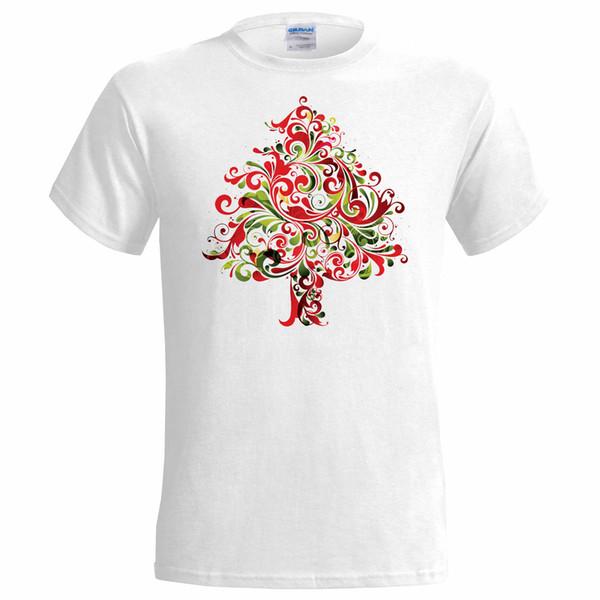Christmas Jersey Design.Funky Xmas Tree Design Mens T Shirt Christmas Art Santa Gift Present Snow Jersey Print T Shirt Cool Team Shirts Crazy Shirt Designs From Upcup