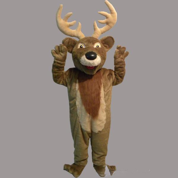 2019 Hohe qualität heißer Weihnachten Rudolph als Rentier Maskottchen Kostüm Erwachsene Klassische Cartoon Kostüme Outfits Kostüm