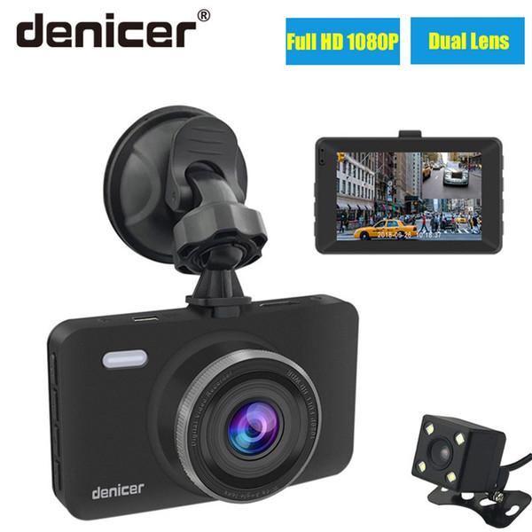 "Denicer Car Dvr Camera 3.0"" Screen Full HD 1080P 30fps Dual Lens with Rear View Dashcam Auto Registrar Car Video Recorder DVRs"