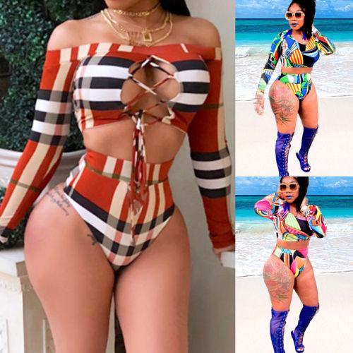 huge discount 4ed61 0a3a0 Acquista Costume Da Bagno Da Bagno Da Mare Realizzato In Bikini Con Fascia  Da Bagno Imbottito Da Donna A Fascia Fasciatura Da Donna A $21.0 Dal ...