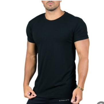 2019 New Fitness Clothing Cotton T-shirt Mens Gyms Short Sleeve T-shirts Homme Muscle Tee Tops Fashion T-shirt Sportswear
