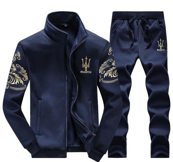 Commercio all'ingrosso -Sport vestito degli uomini inverno Tute Marca vestiti casuali Pullover da uomo maschio di svago di sport esterno di modo di marca con cappuccio Mens