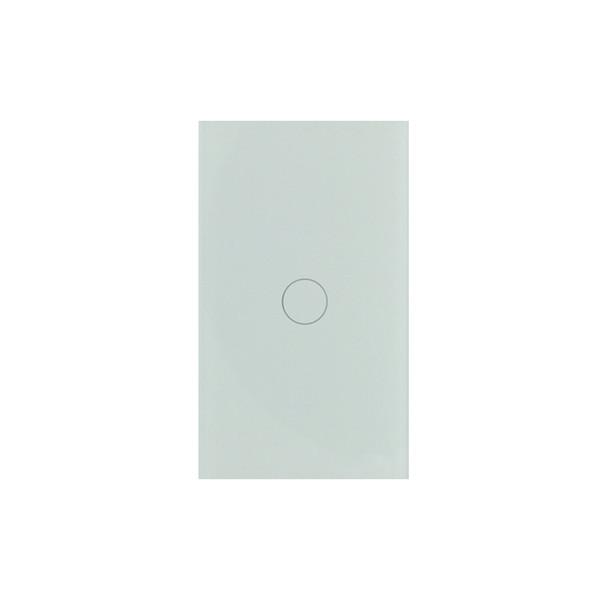 WIFI de EE. UU. Control inalámbrico Interruptor de luz inteligente de pared de cristal de 1 grupo de cristal Compatible con Alexa y Google Home