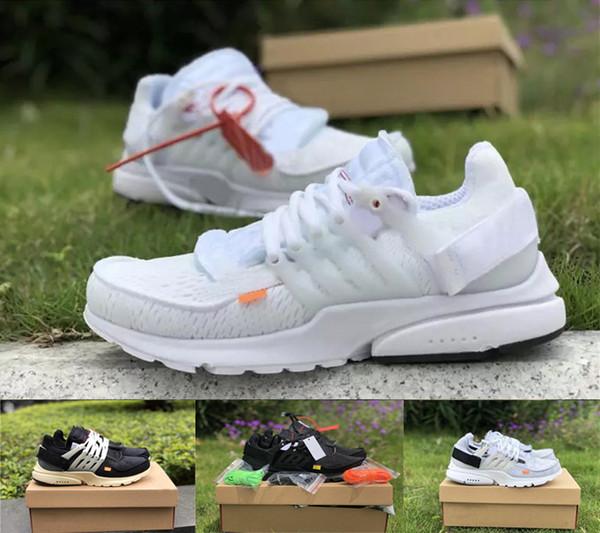 2019 Moda transpirable Prestos V2 zapatos para hombre para correr BR TP QS 2.0 Triple Negro Blanco Deportes aéreos Mujeres para correr zapatillas de deporte
