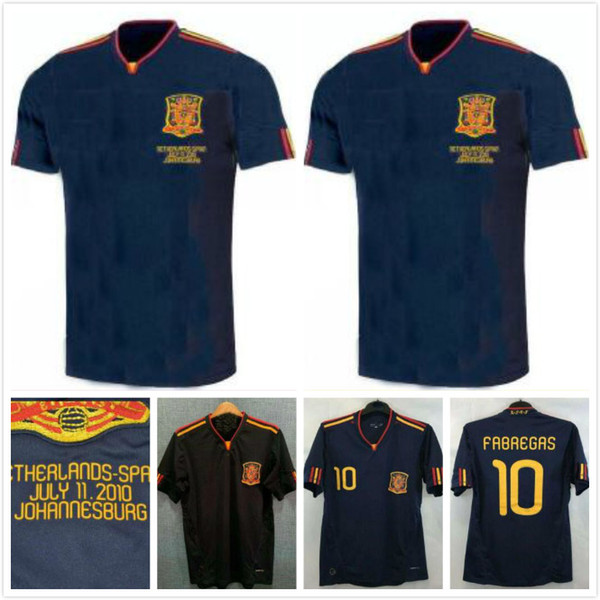 2010 İspanya Futbol Jersey Retro futbol Gömlek Vintage Klasik antik üniforma TORRES XAVI A.INESTA DAVID VILLA 1994 Spani Retro forması