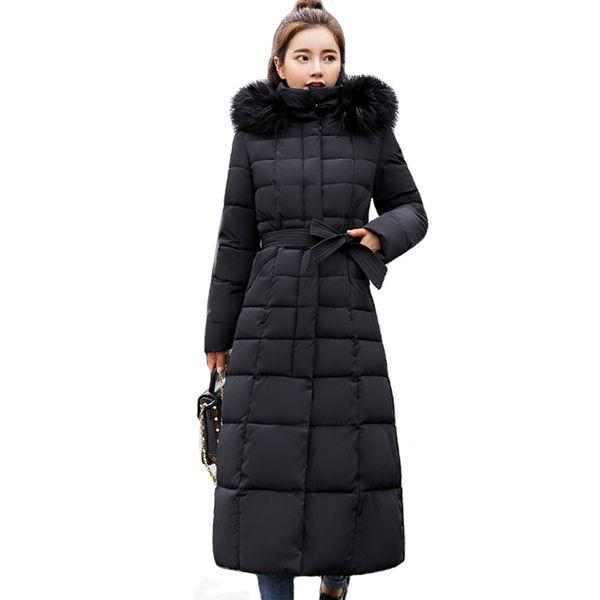 2019 Feminino Haute Inverno Qualité Ouaté Fourrure D'hiver Survêtement Femmes Veste Parka Acheter Femme Manteau Casaco Long Chaud Col De LqcAR4S35j