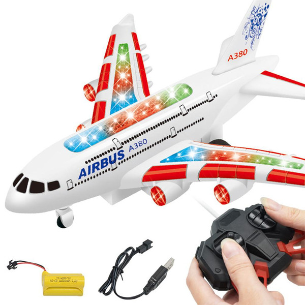 wholesale A380 Airbus Toys RC Airplane with Music Lights Large Electric-Remote-Control-Airplane Toy