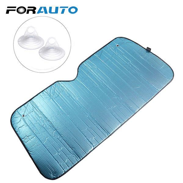 FORAUTO UV Protect Car Windscreen Visor Cover Auto Front Window Sunshade Heat Block 145*70CM Reflective Windshield Sun Shade