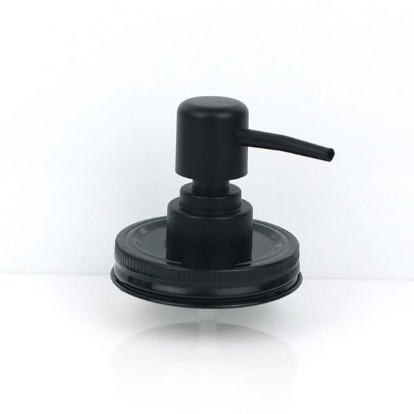 Loción Champú Botella de plástico líquido negro Tapa de la mano Al por mayor Mason Jar (no se incluye) Bomba dispensadora de jabón