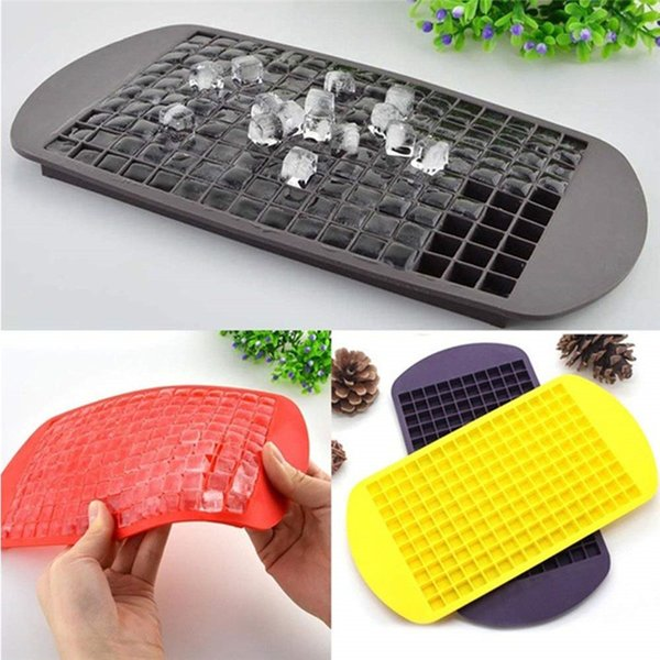 160 Grids Mini Tiny Silicone Ice Cube Trays Flexible Stackable Mini Cocktail Whiskey Ice Cube Mold Storage Containers for Kitchen Bar