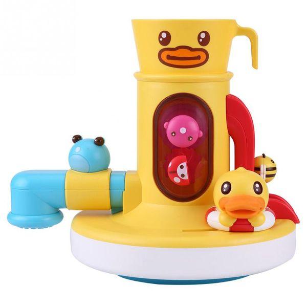 Детские Забавные Игры Воды Ванна Игрушки Утка Душ Кран Купания Носик Играть Плавание Ванная Комната Игрушка