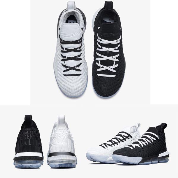 Zapatillas de baloncesto de igualdad para los hombres 16 zapatillas de deporte james ver el trono rey oreo leBRon 16 igualdad szie 40-46
