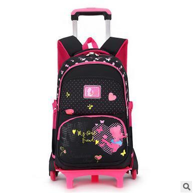 Kids Wheeled Backpack Children School Backpack On Wheels Trolley School Backpacks Bags For Girls Rolling Backpacks