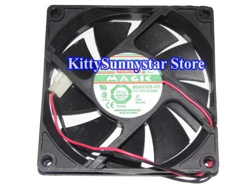 80x80x15mm MGA8012XB-A15 8cm 12V 0.20A 2Wire 8015 cpu case Cooling Fan